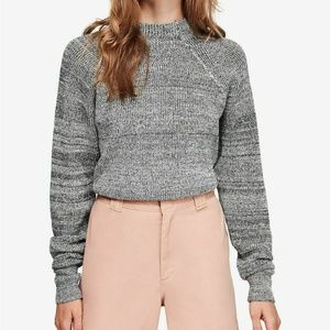 Too Good Pullover Sweater Gray Black